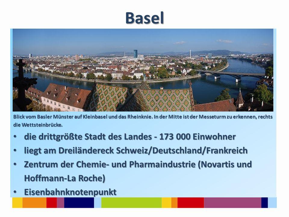 Basel Blick vom Basler Münster auf Kleinbasel und das Rheinknie.