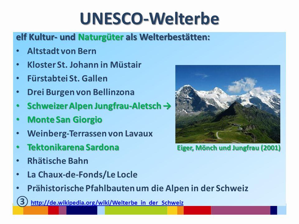 UNESCO-Welterbe elf Kultur- und Naturgüter als Welterbestätten: Altstadt von Bern Kloster St.