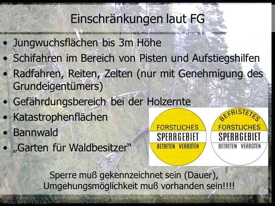 © OeAV, Peter Kapelari; Willi Seifert 07.02.2012 Jungwuchsflächen bis 3m Höhe Schifahren im Bereich von Pisten und Aufstiegshilfen Radfahren, Reiten,