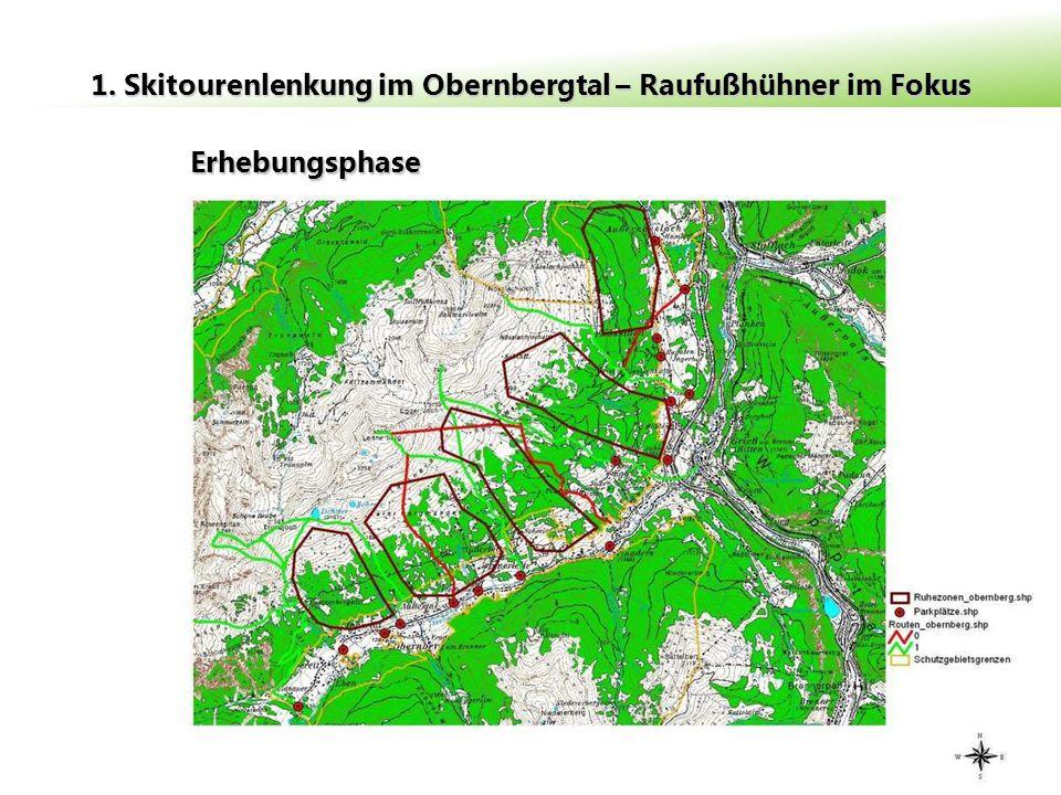 Erhebungsphase 1. Skitourenlenkung im Obernbergtal – Raufußhühner im Fokus