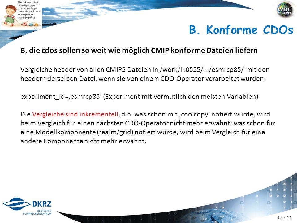 17 / 11 B. Konforme CDOs B.