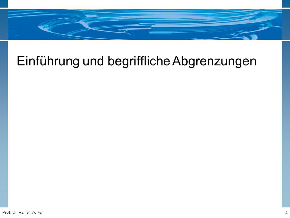 Prof. Dr. Rainer Völker 85 Praktische Übung III Projektcontrolling