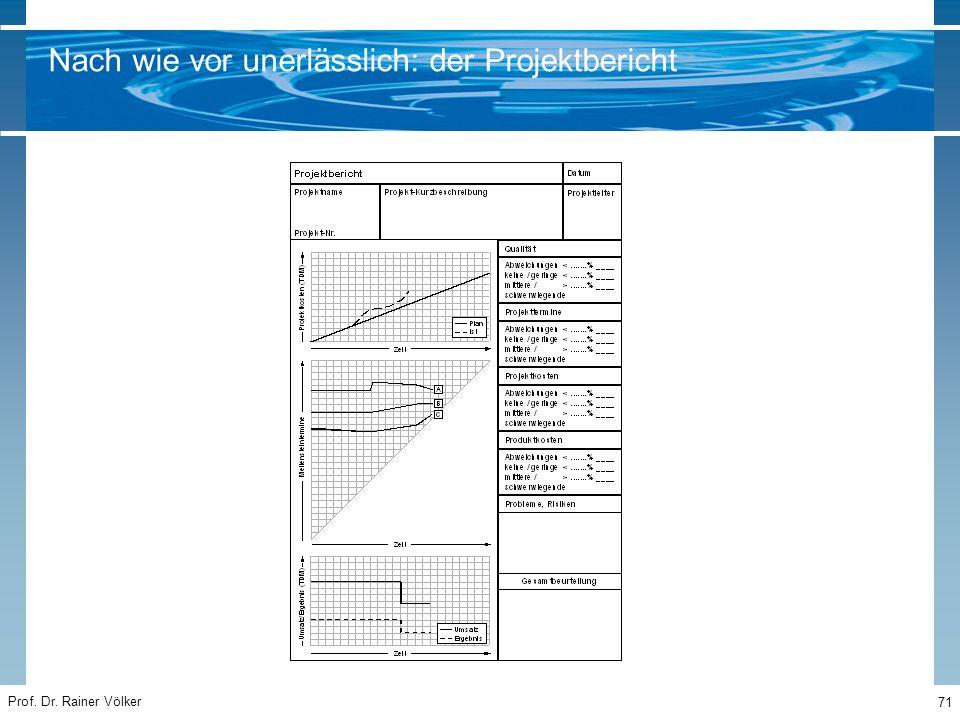 Prof. Dr. Rainer Völker 71 Nach wie vor unerlässlich: der Projektbericht