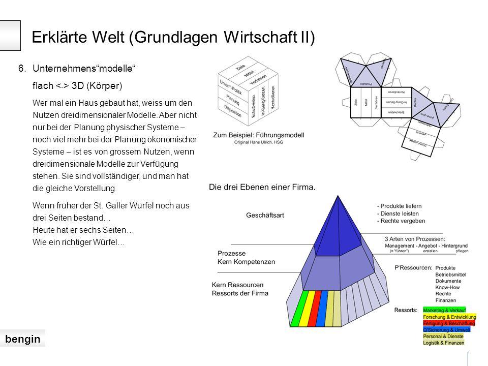 bengin 19 © 2007 info@isg-institut.ch mehrdimensionale Eigenschaften Potenziale und Werte vollständiger darstellen.