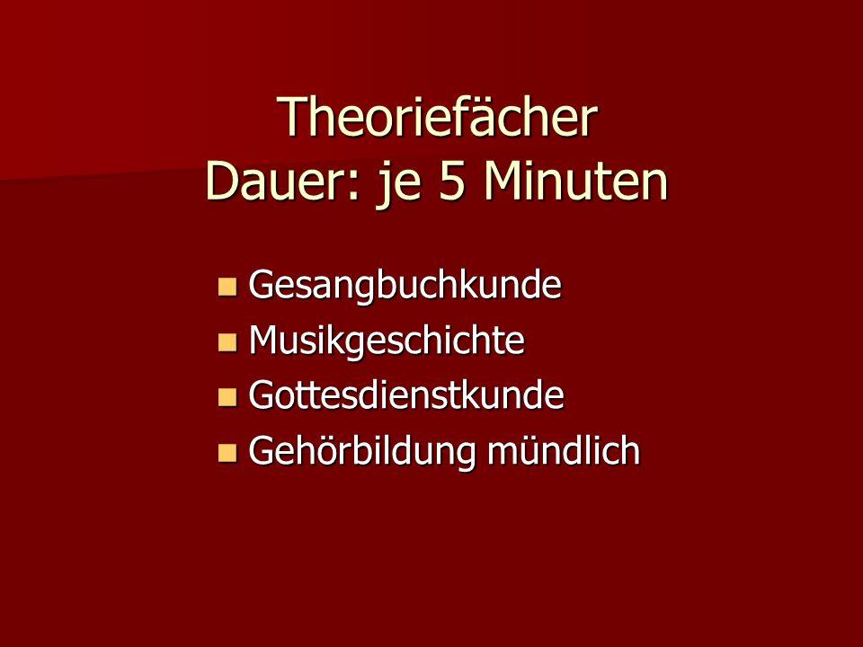 Gesangbuchkunde Spezialgebiet Lied vorsingen, unbegleitet, ca.