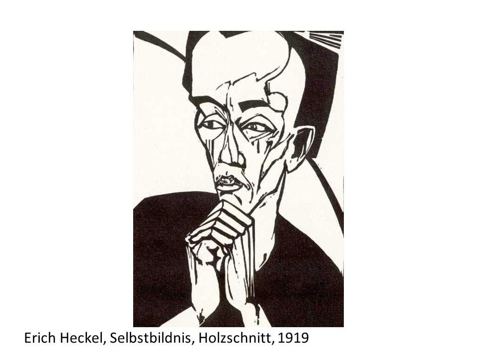 Erich Heckel, Selbstbildnis, Holzschnitt, 1919