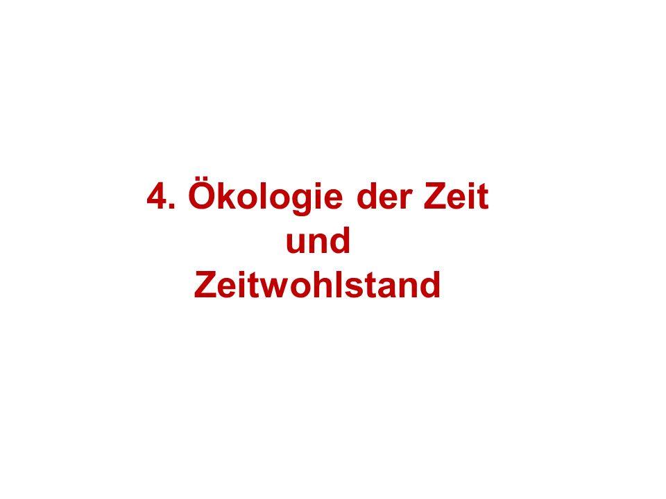 4. Ökologie der Zeit und Zeitwohlstand