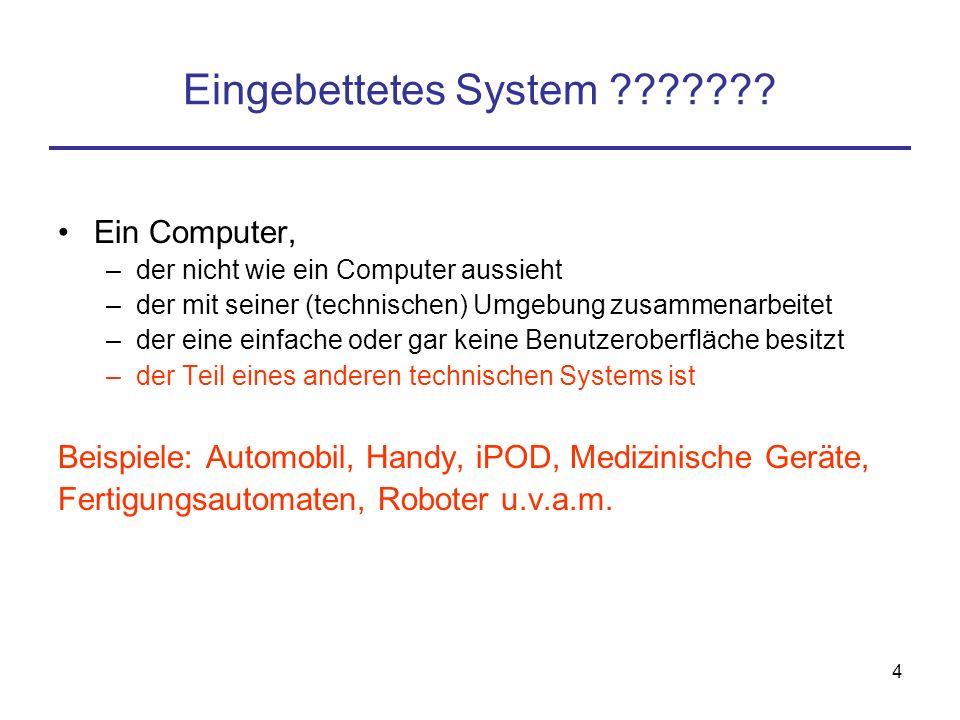 """34 Intelligente Technische Systeme Ab WS 2006/7 an dieser Fakultät: Bachelor Informatik mit Schwerpunkt """"Intelligente Technische Systeme"""