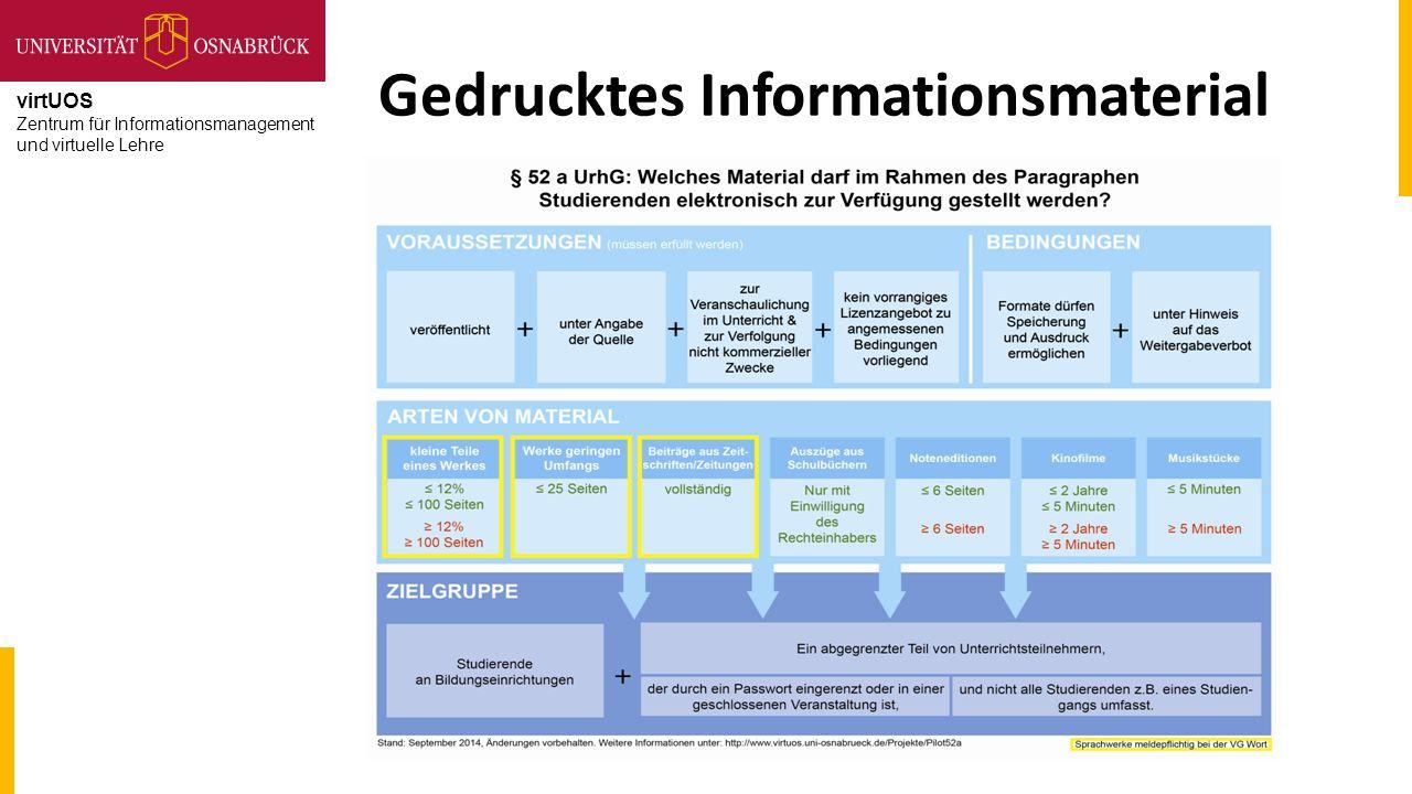 virtUOS Zentrum für Informationsmanagement und virtuelle Lehre Gedrucktes Informationsmaterial