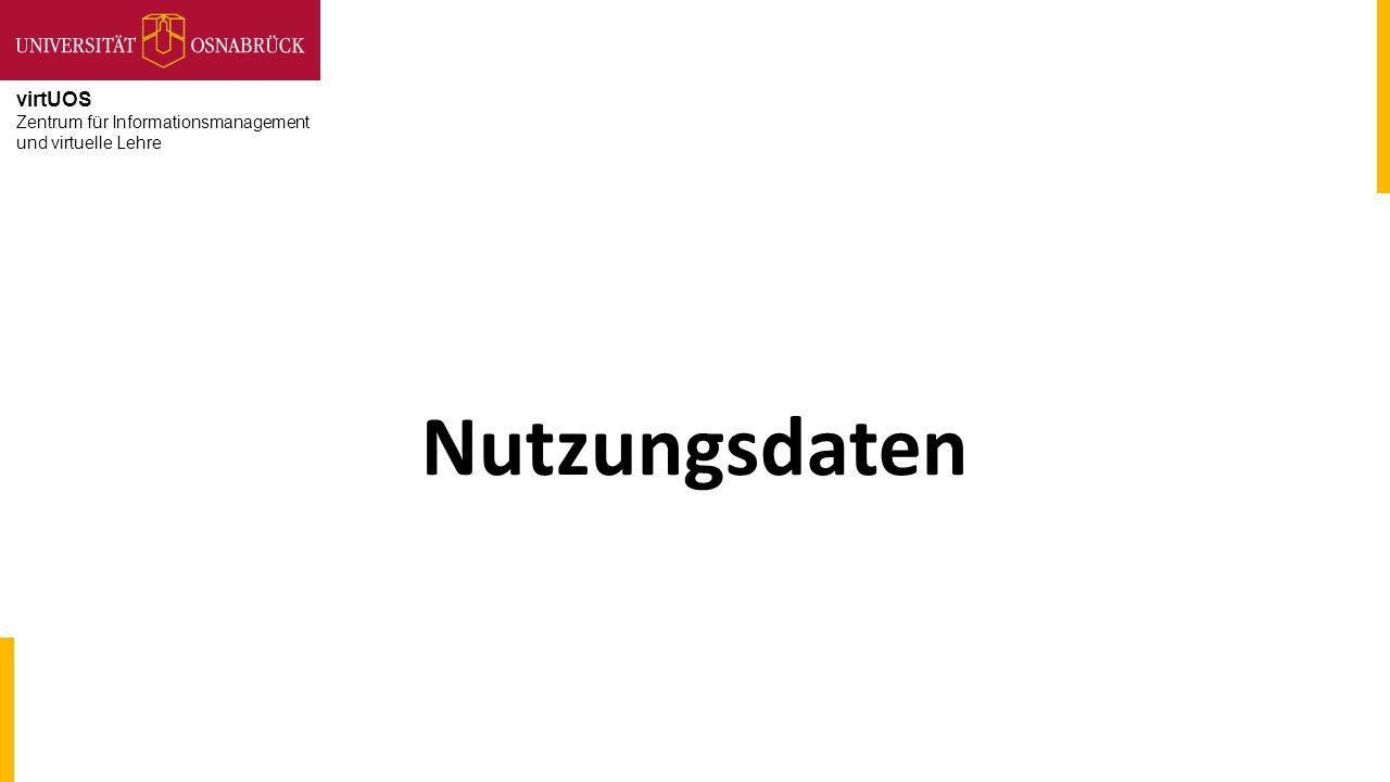 virtUOS Zentrum für Informationsmanagement und virtuelle Lehre Nutzungsdaten