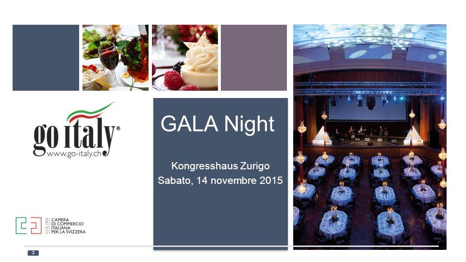 GALA Night Kongresshaus Zurigo Sabato, 14 novembre 2015 2