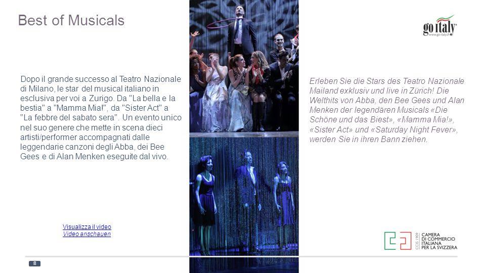 Dopo il grande successo al Teatro Nazionale di Milano, le star del musical italiano in esclusiva per voi a Zurigo. Da