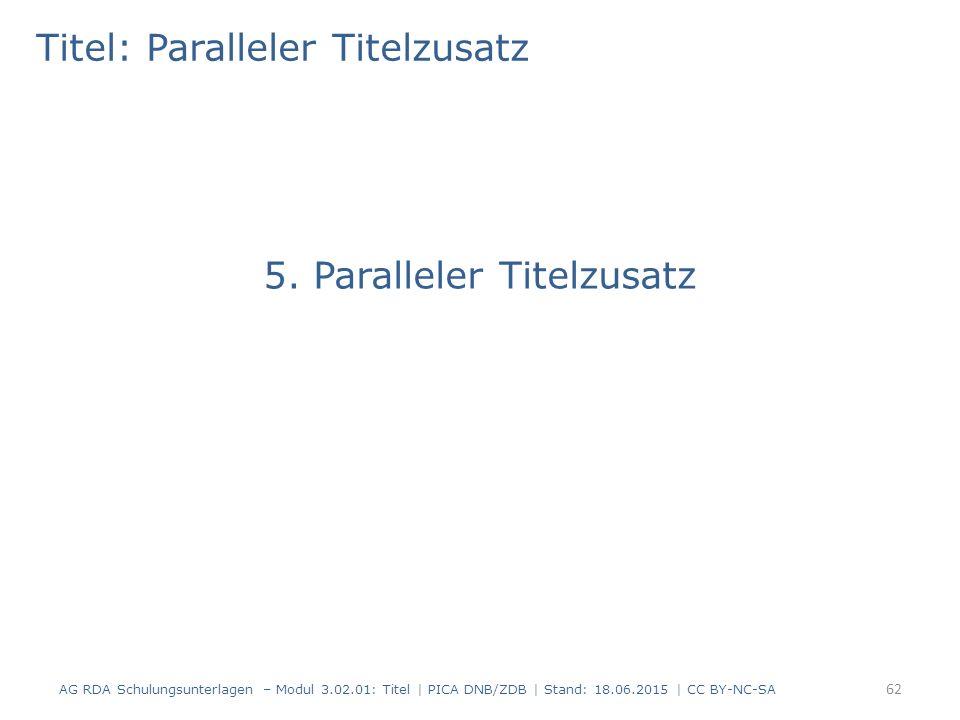 Titel: Paralleler Titelzusatz 5.