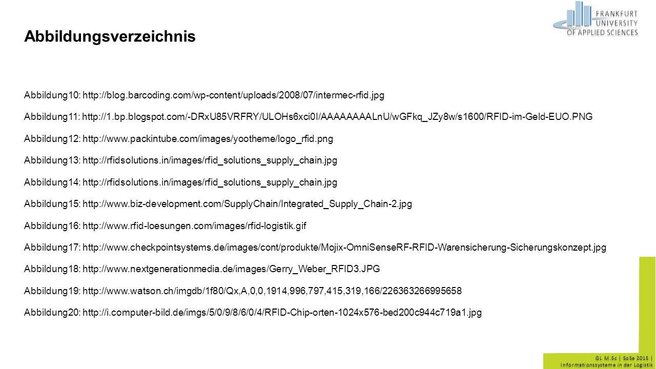 GL M.Sc | SoSe 2015 | Informationssysteme in der Logistik Abbildungsverzeichnis Abbildung10: http://blog.barcoding.com/wp-content/uploads/2008/07/inte