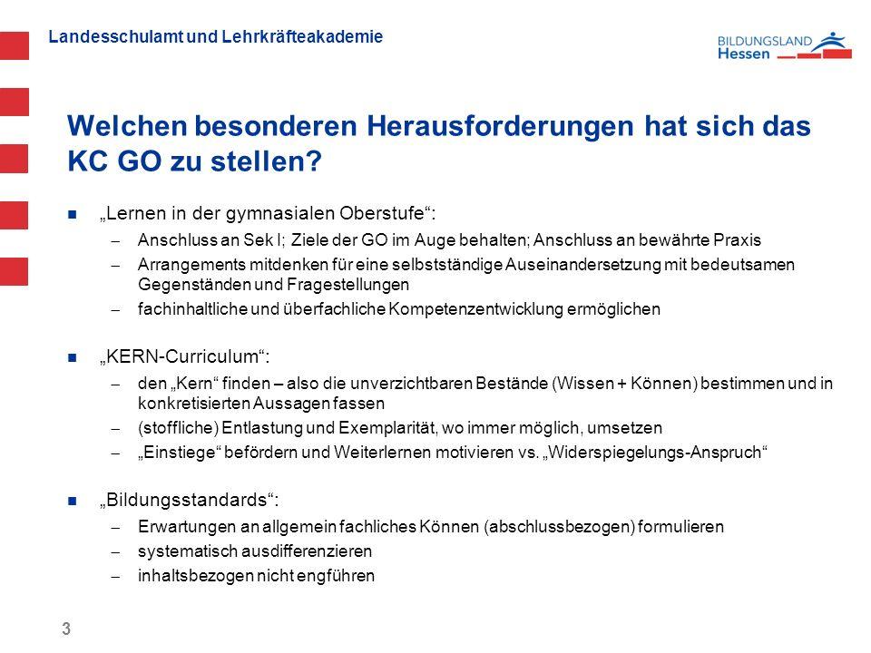 Landesschulamt und Lehrkräfteakademie Strukturebenen des Kerncurriculums Ebene 1: Überfachliche Kompetenzen (z.B.