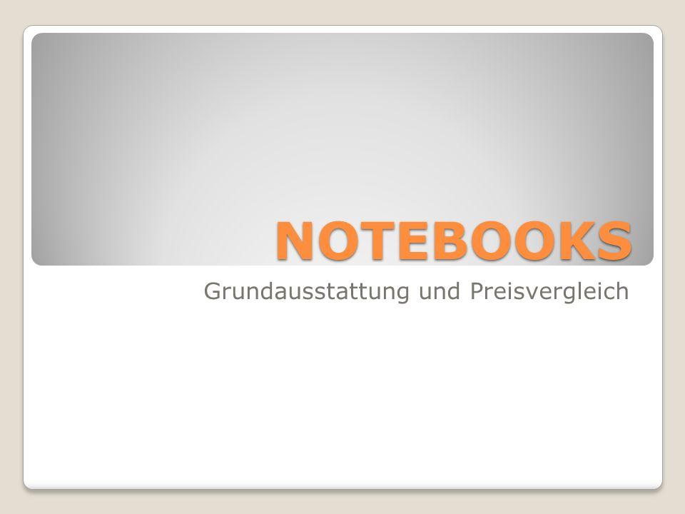 NOTEBOOKS Grundausstattung und Preisvergleich