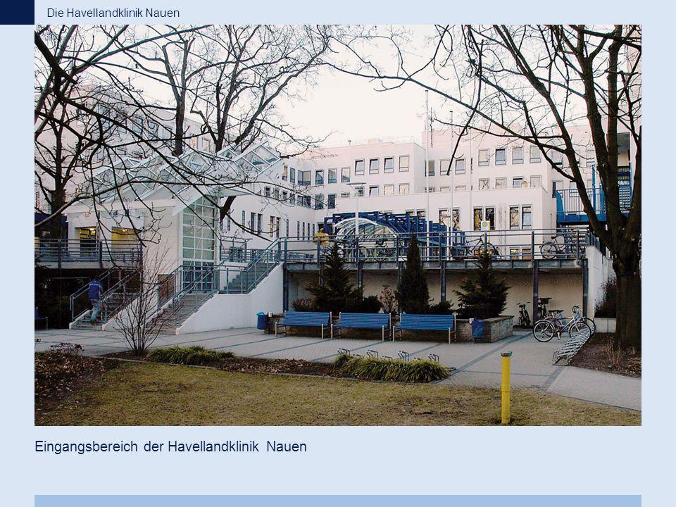 Eingangsbereich der Havellandklinik Nauen Die Havellandklinik Nauen