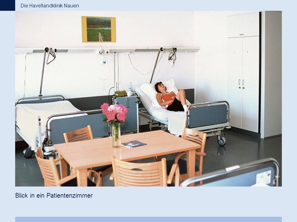 Blick in ein Patientenzimmer Die Havellandklinik Nauen