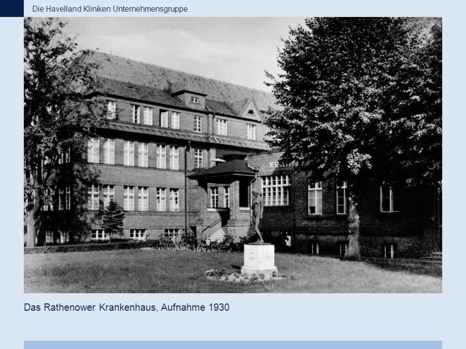 Das Rathenower Krankenhaus, Aufnahme 1930 Die Havelland Kliniken Unternehmensgruppe