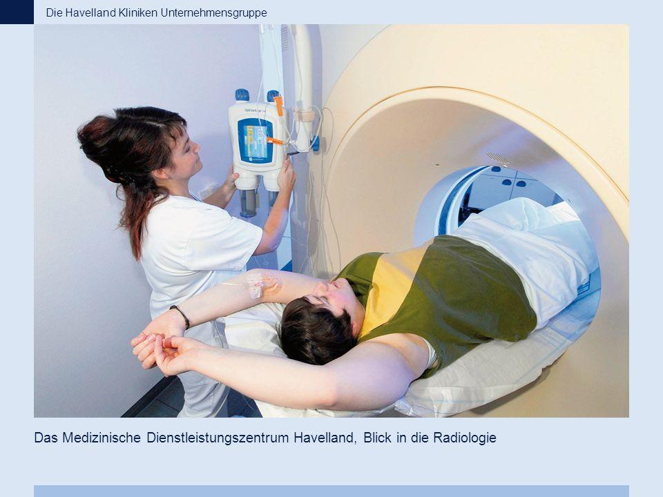 Das Medizinische Dienstleistungszentrum Havelland, Blick in die Radiologie Die Havelland Kliniken Unternehmensgruppe