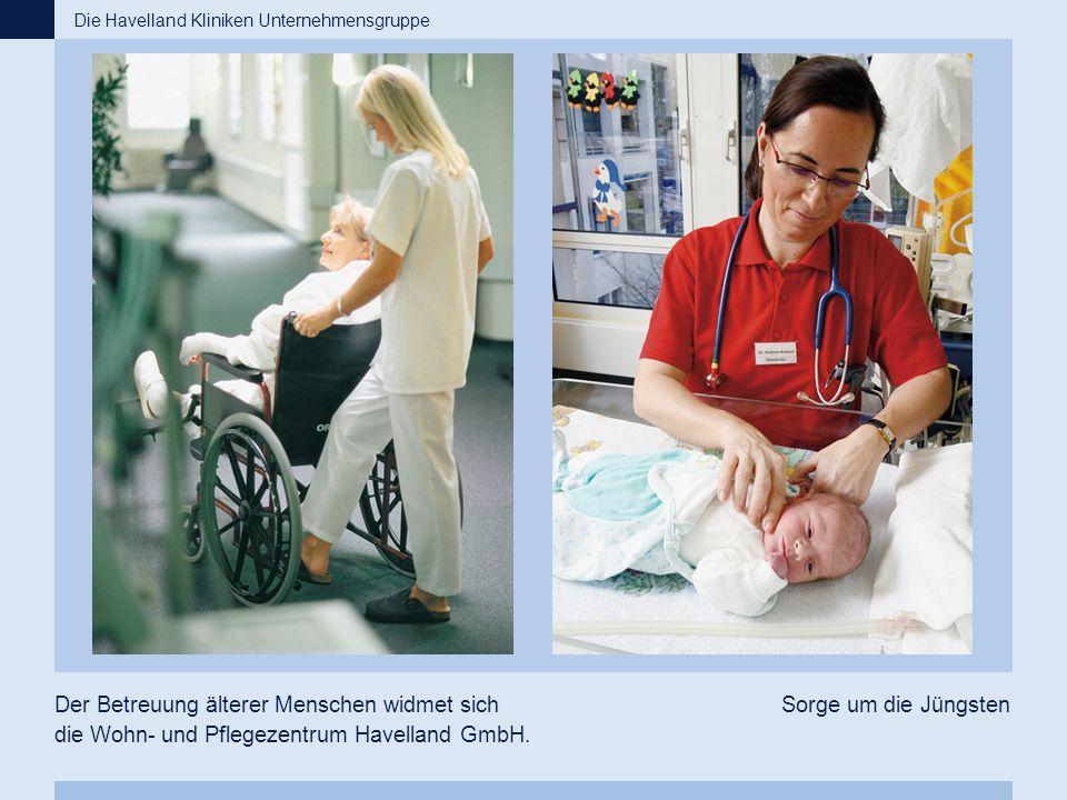 Der Betreuung älterer Menschen widmet sich die Wohn- und Pflegezentrum Havelland GmbH. Sorge um die Jüngsten