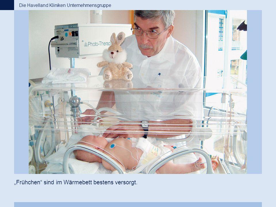 """""""Frühchen"""" sind im Wärmebett bestens versorgt. Die Havelland Kliniken Unternehmensgruppe"""