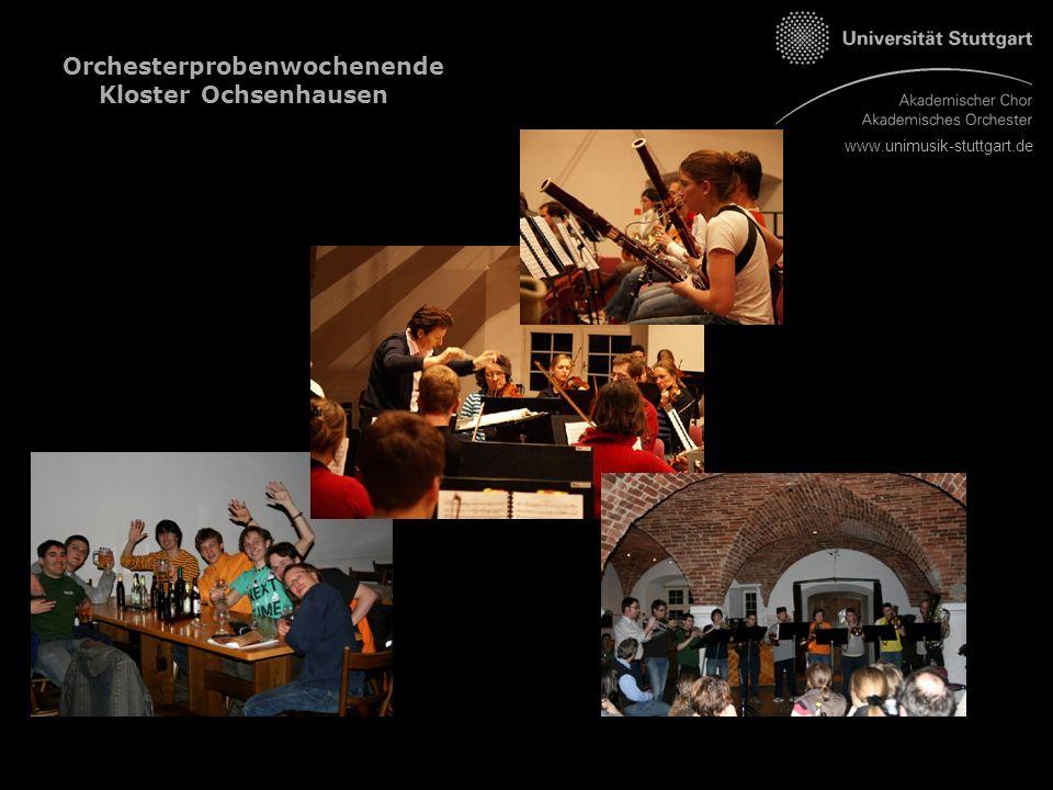 www.unimusik-stuttgart.de Orchesterprobenwochenende Kloster Ochsenhausen
