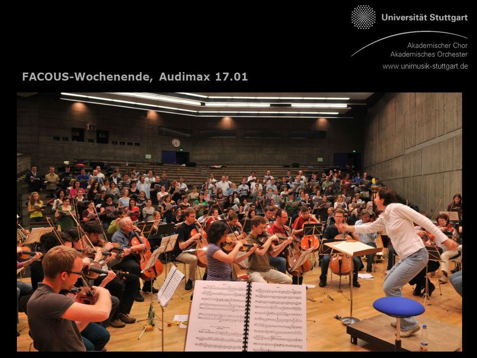 www.unimusik-stuttgart.de FACOUS-Wochenende, Audimax 17.01