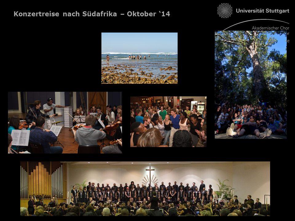 Konzertreise nach Südafrika – Oktober '14