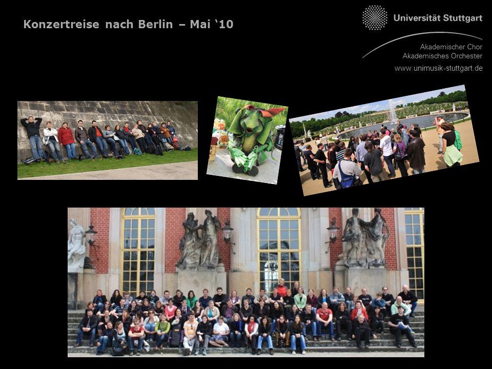 www.unimusik-stuttgart.de Konzertreise nach Berlin – Mai '10