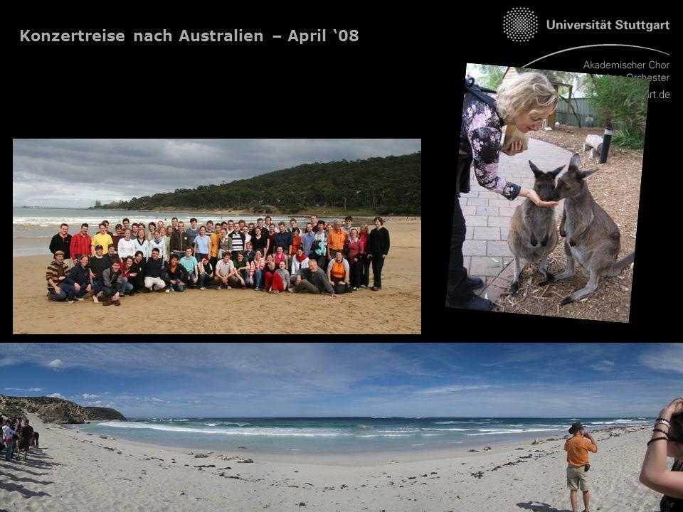 www.unimusik-stuttgart.de Konzertreise nach Australien – April '08