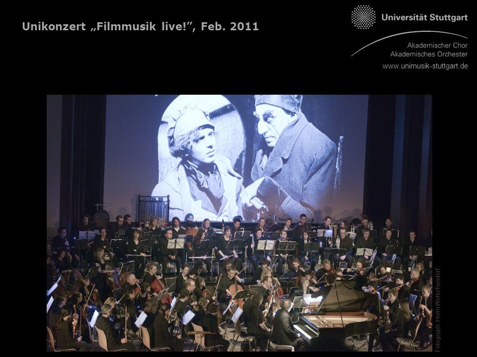 """Unikonzert """"Filmmusik live! , Feb. 2011 Fotograph: Holm Wolschendorf"""