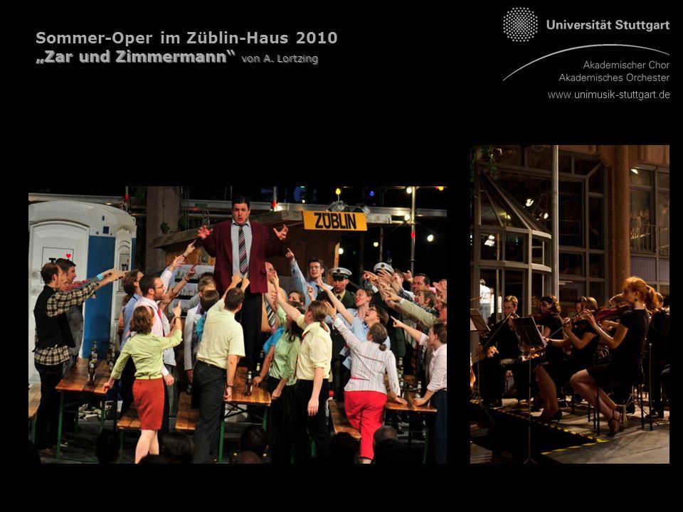 """www.unimusik-stuttgart.de Sommer-Oper im Züblin-Haus 2010 """"Zar und Zimmermann von A. Lortzing"""