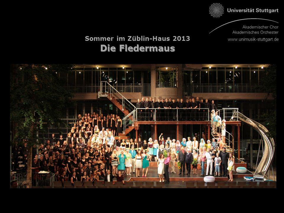 www.unimusik-stuttgart.de Die Fledermaus Sommer im Züblin-Haus 2013 Die Fledermaus