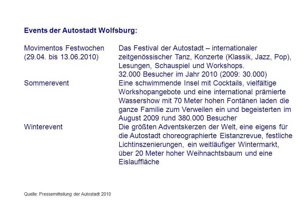Events der Autostadt Wolfsburg: Movimentos Festwochen Das Festival der Autostadt – internationaler (29.04.