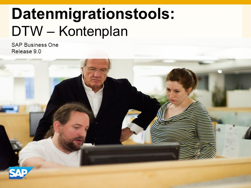 INTERN Datenmigrationstools: DTW – Kontenplan SAP Business One Release 9.0