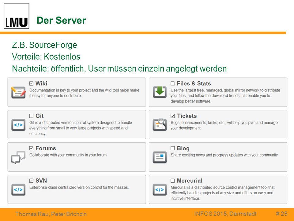 Der Server # 25 Thomas Rau, Peter Brichzin INFOS 2015, Darmstadt Z.B.