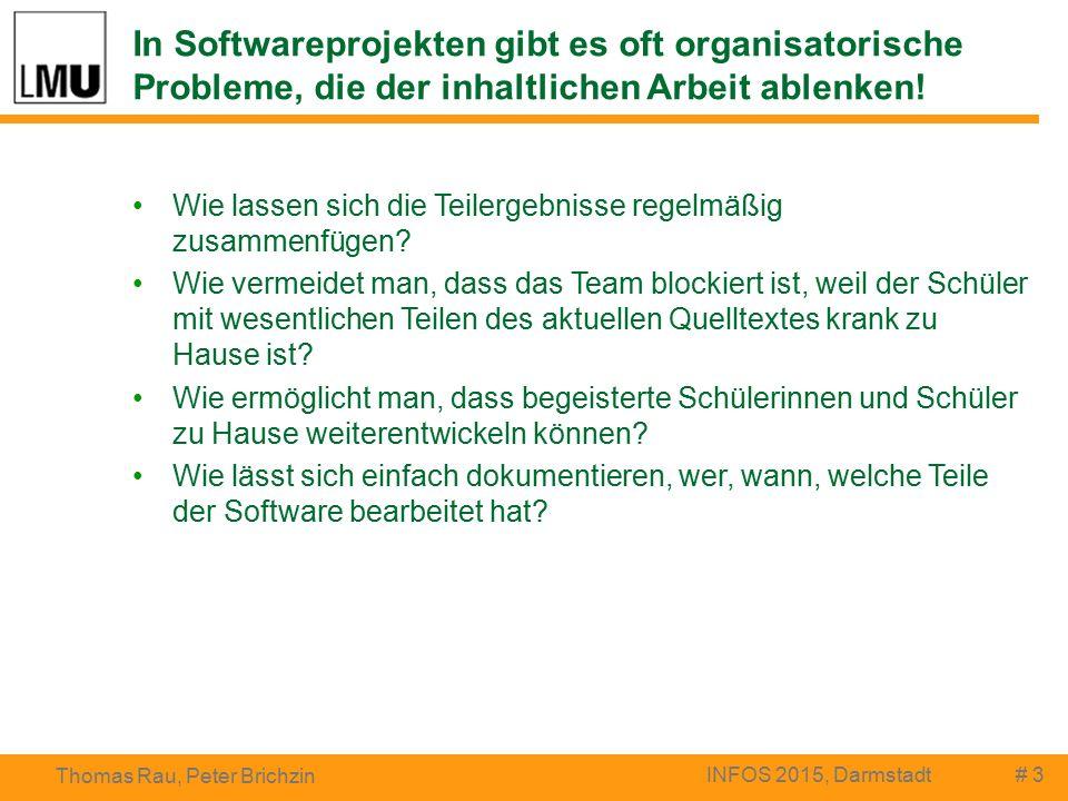 In Softwareprojekten gibt es oft organisatorische Probleme, die der inhaltlichen Arbeit ablenken.