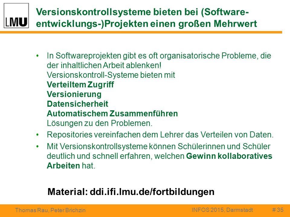 Versionskontrollsysteme bieten bei (Software- entwicklungs-)Projekten einen großen Mehrwert In Softwareprojekten gibt es oft organisatorische Probleme, die der inhaltlichen Arbeit ablenken.