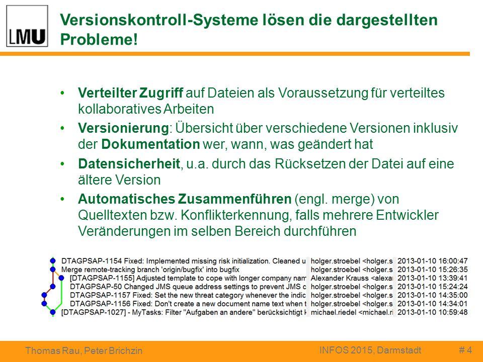 Versionskontroll-Systeme lösen die dargestellten Probleme.