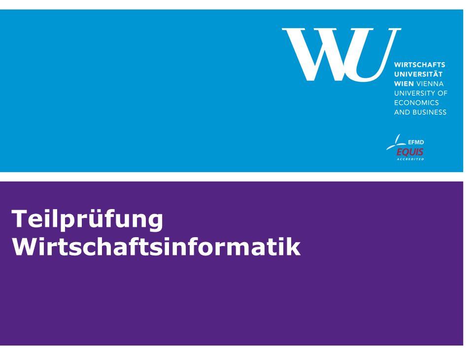 Teilprüfung Wirtschaftsinformatik