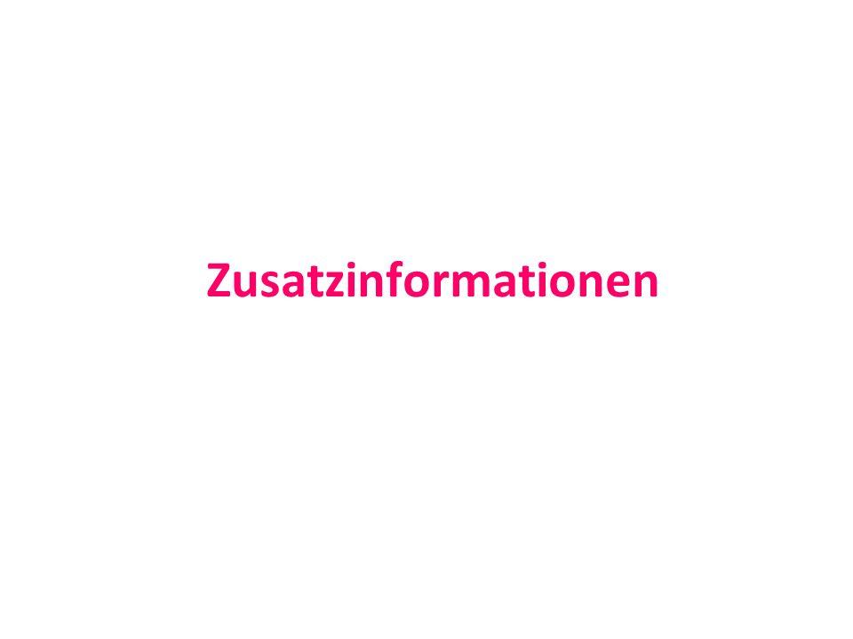 Zusatzinformationen