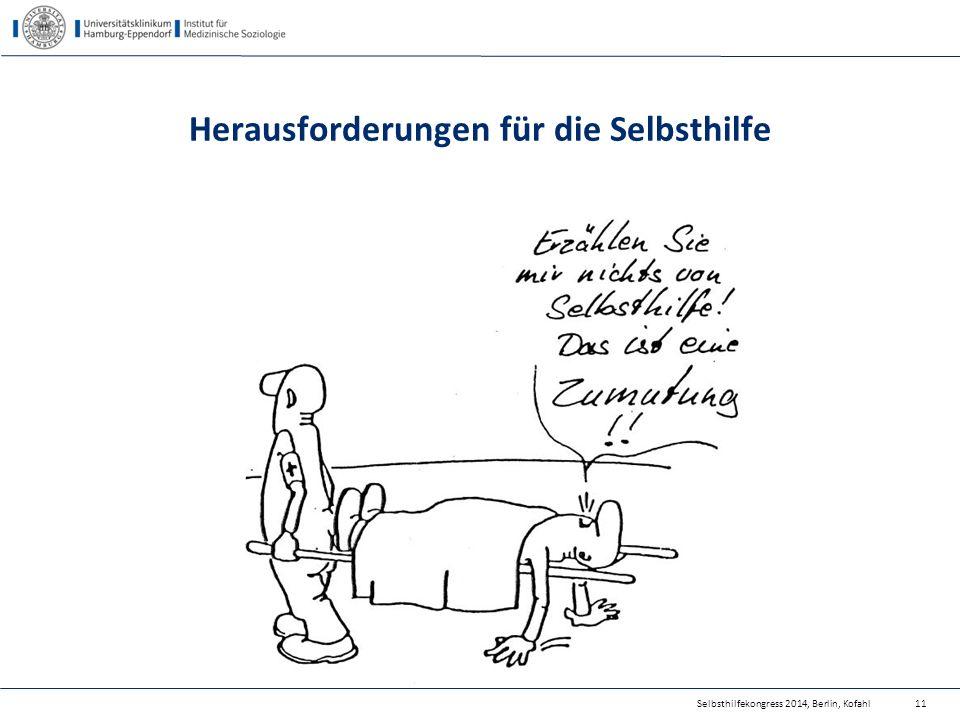 Selbsthilfekongress 2014, Berlin, Kofahl Herausforderungen für die Selbsthilfe 11