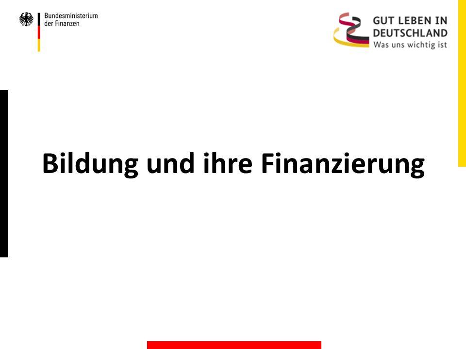 Bildung und ihre Finanzierung