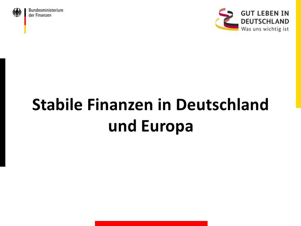 Stabile Finanzen in Deutschland und Europa