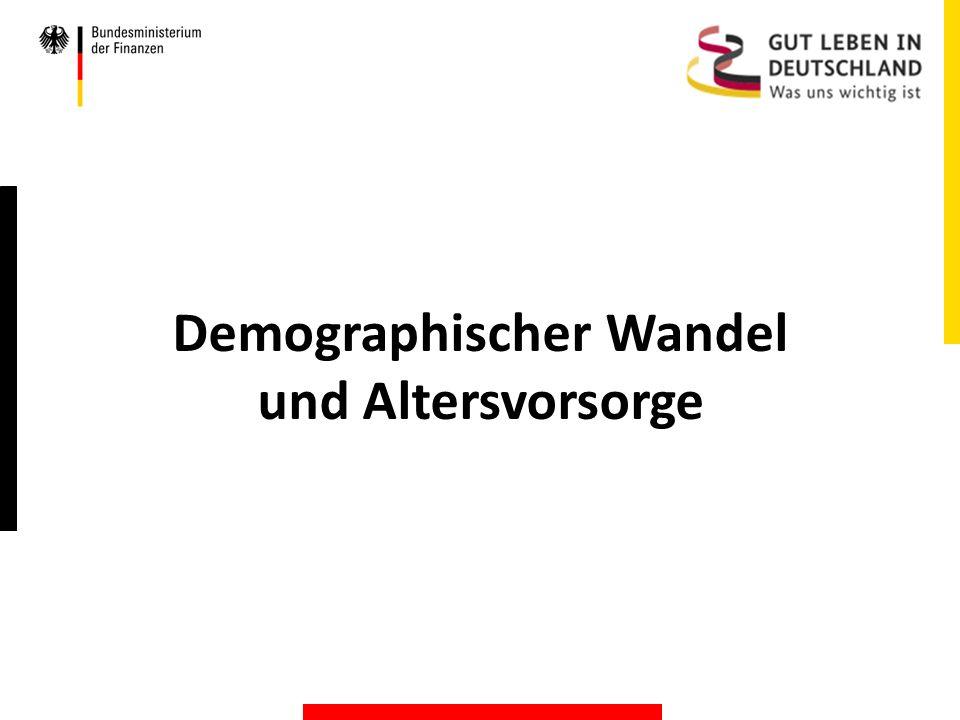 Demographischer Wandel und Altersvorsorge