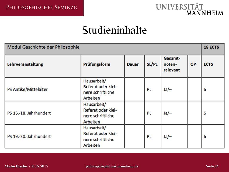 Studieninhalte Martin Brecher · 03.09.2015philosophie.phil.uni-mannheim.deSeite 24