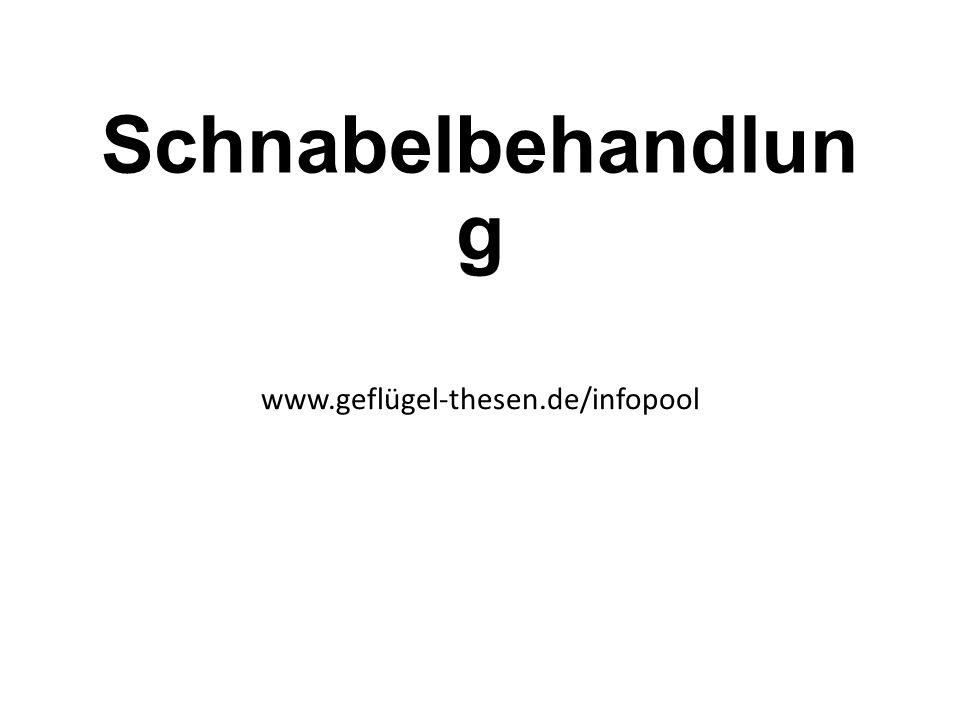 Schnabelbehandlun g www.geflügel-thesen.de/infopool