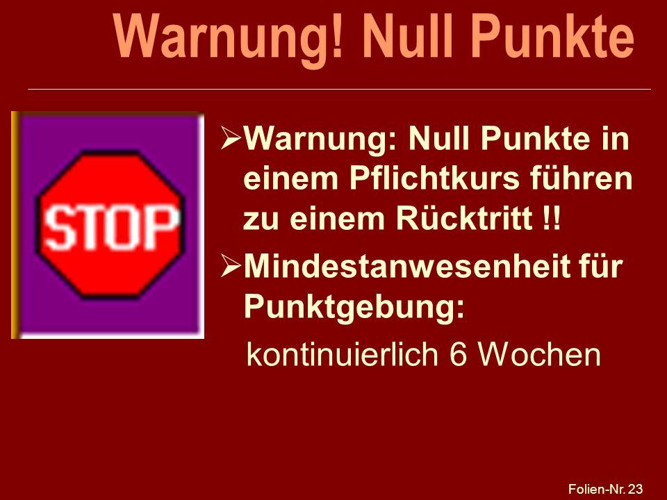 Folien-Nr.23 Warnung.