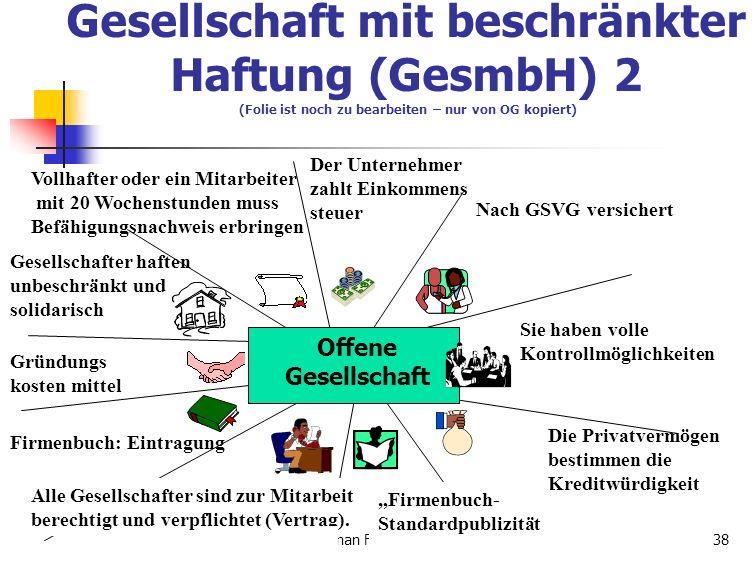 Tilman Frenken,BWI,5AA,06-0738 Vollhafter oder ein Mitarbeiter mit 20 Wochenstunden muss Befähigungsnachweis erbringen Der Unternehmer zahlt Einkommen